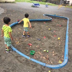 砂場。子供連れに人気の稲田公園レポ!川崎市多摩区の多摩川沿い(関東・神奈川)