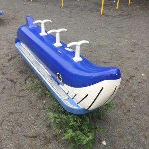 クジラの乗り物の遊具。子供連れに人気の稲田公園レポ!川崎市多摩区の多摩川沿い(関東・神奈川)