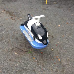 シャチの乗り物の遊具。子供連れに人気の稲田公園レポ!川崎市多摩区の多摩川沿い(関東・神奈川)